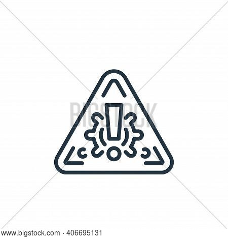 warning sign icon isolated on white background from virus transmission collection. warning sign icon