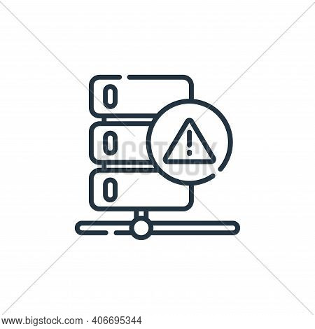 warning icon isolated on white background from database and servers collection. warning icon thin li