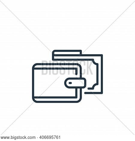 wallet icon isolated on white background from mall collection. wallet icon thin line outline linear