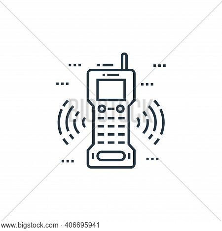 walkie talkies icon isolated on white background from technology devices collection. walkie talkies