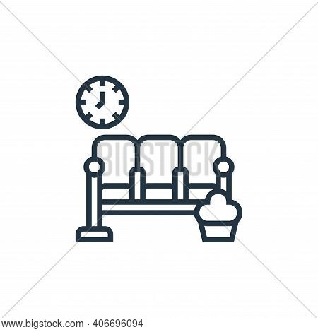 waiting room icon isolated on white background from railway collection. waiting room icon thin line