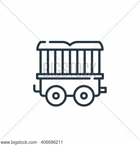 wagon icon isolated on white background from circus collection. wagon icon thin line outline linear