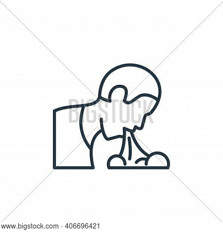 vomiting icon isolated on white background from coronavirus disease collection. vomiting icon thin l
