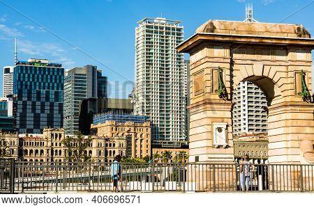 The Memorial Arch In South Bank Parklands Brisbane, Australia, 2021