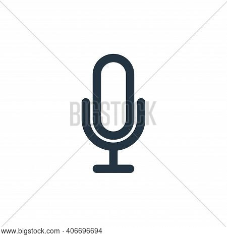 voice icon isolated on white background from multimedia collection. voice icon thin line outline lin
