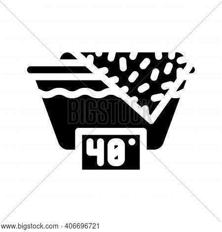 Wash Up To 40 Degrees Glyph Icon Vector Illustration