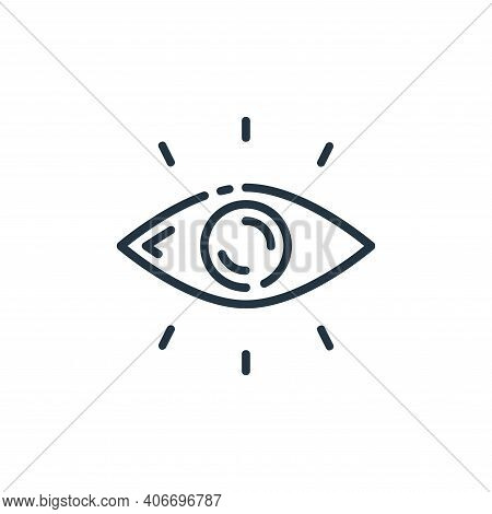 vision icon isolated on white background from startup collection. vision icon thin line outline line