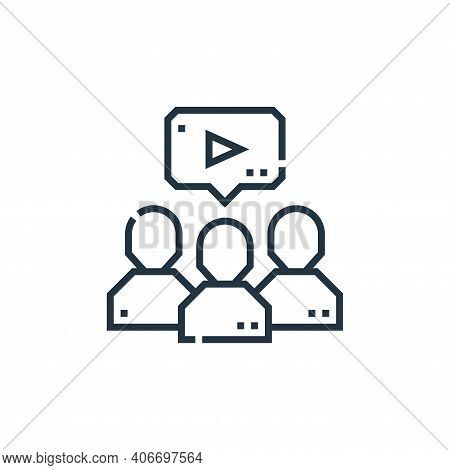 viral marketing icon isolated on white background from marketing collection. viral marketing icon th