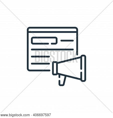 viral icon isolated on white background from social media collection. viral icon thin line outline l