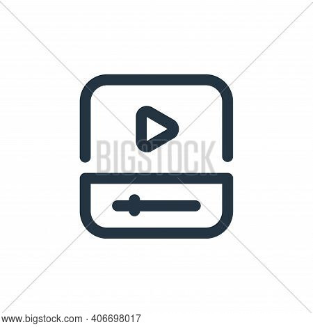 video player icon isolated on white background from video collection. video player icon thin line ou