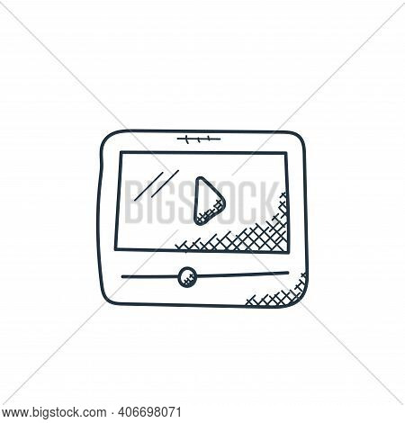 video player icon isolated on white background from technology collection. video player icon thin li