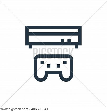 videogame icon isolated on white background from mental health collection. videogame icon thin line