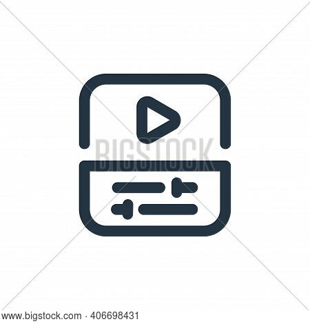 video editing icon isolated on white background from video collection. video editing icon thin line