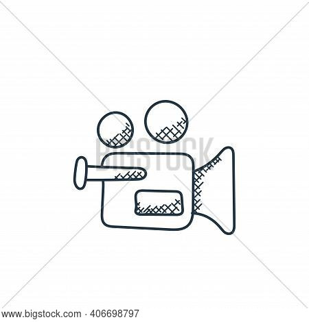 video camera icon isolated on white background from technology collection. video camera icon thin li