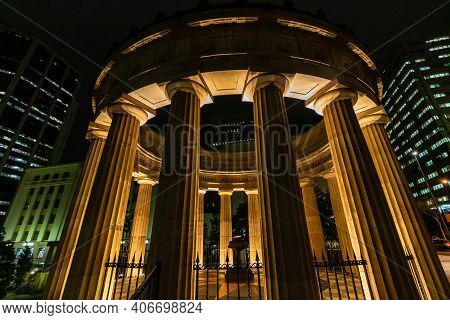 The Anzac Square In Front Of The Brisbane Central Railway Station In Downtown Brisbane, Australia, 2