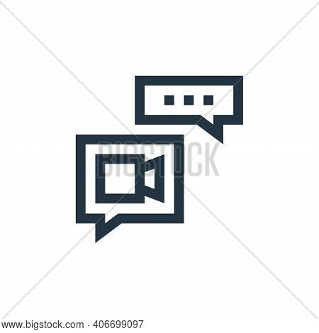 video call icon isolated on white background from feedback and testimonials collection. video call i