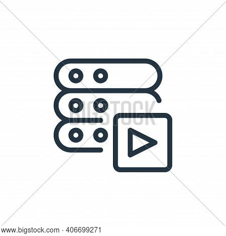 video icon isolated on white background from work office server collection. video icon thin line out