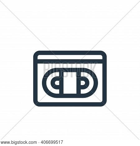 vhs icon isolated on white background from communication and media collection. vhs icon thin line ou