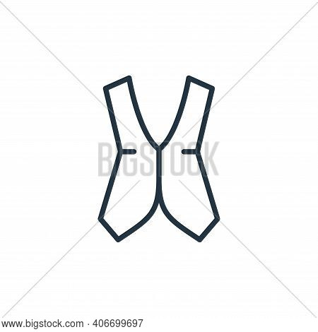 vest icon isolated on white background from wardrobe collection. vest icon thin line outline linear