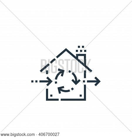 ventilation icon isolated on white background from smarthome collection. ventilation icon thin line