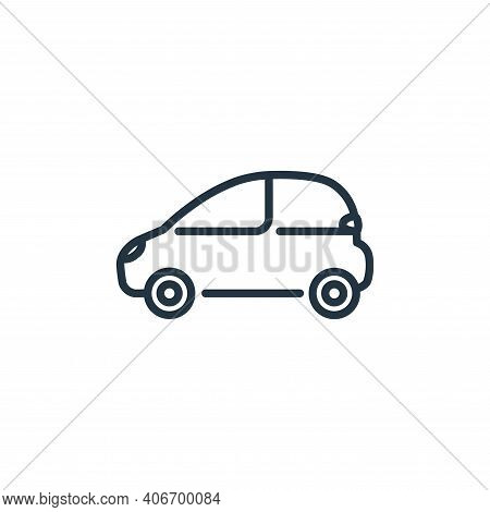 vehicles icon isolated on white background from insurance collection. vehicles icon thin line outlin