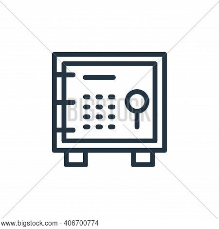 vault icon isolated on white background from banking and finance flat icons collection. vault icon t