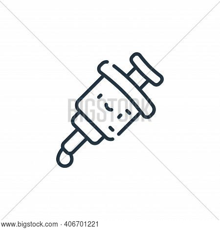 vaccine icon isolated on white background from medical services collection. vaccine icon thin line o
