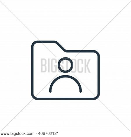 user icon isolated on white background from folder collection. user icon thin line outline linear us