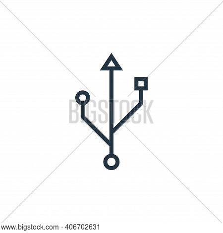 usb icon isolated on white background from hardware collection. usb icon thin line outline linear us