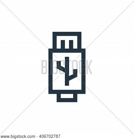 usb icon isolated on white background from electronics collection. usb icon thin line outline linear