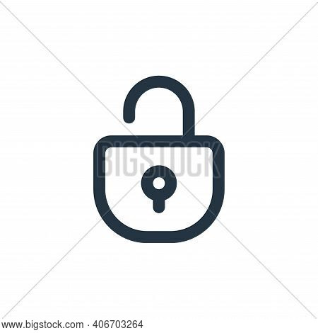 unlocked icon isolated on white background from user interface collection. unlocked icon thin line o