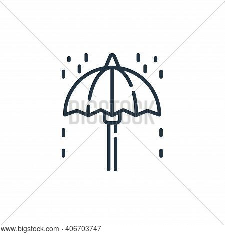 umbrella icon isolated on white background from england collection. umbrella icon thin line outline