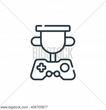 trophy icon isolated on white background from videogame collection. trophy icon thin line outline li