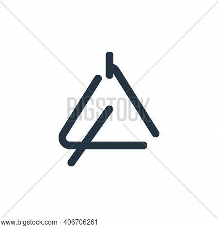triangle icon isolated on white background from sound collection. triangle icon thin line outline li