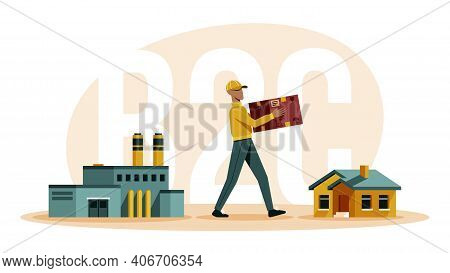 Business To Consumer B2c Illustrations In Flat Vector
