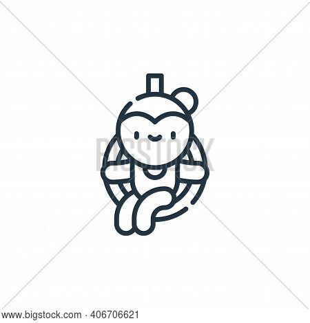 trapeze artist icon isolated on white background from circus collection. trapeze artist icon thin li