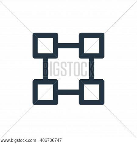 transform icon isolated on white background from user interface collection. transform icon thin line