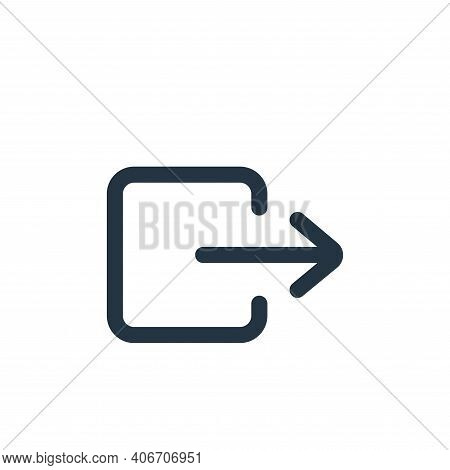 transfer icon isolated on white background from interface collection. transfer icon thin line outlin