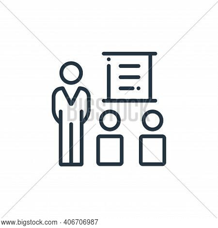 training icon isolated on white background from online learning collection. training icon thin line