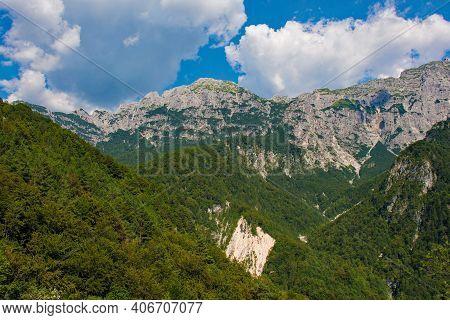 The Summer Landscape Near Pradis In Udine Province, Friuli-venezia Giulia, North East Italy