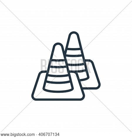 traffic cone icon isolated on white background from motorway collection. traffic cone icon thin line