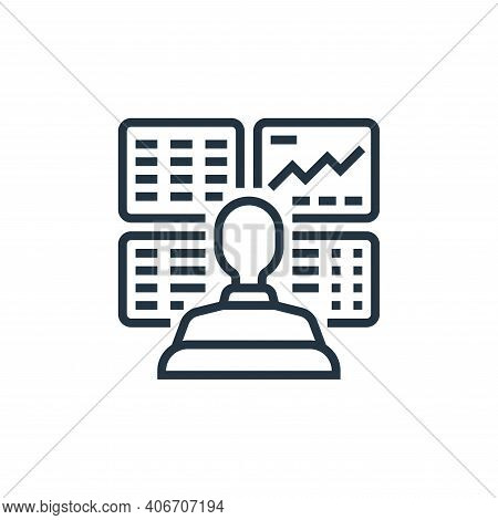 trader icon isolated on white background from economic crisis collection. trader icon thin line outl