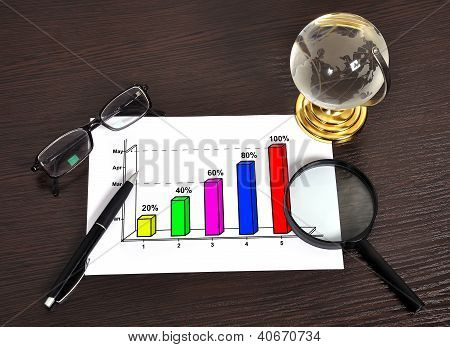 Growth Chart On Paper