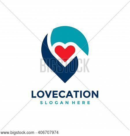 Love Location Logo Design Template. Concept Of Favorite Place Isolated With Flat Style Icon Modern.