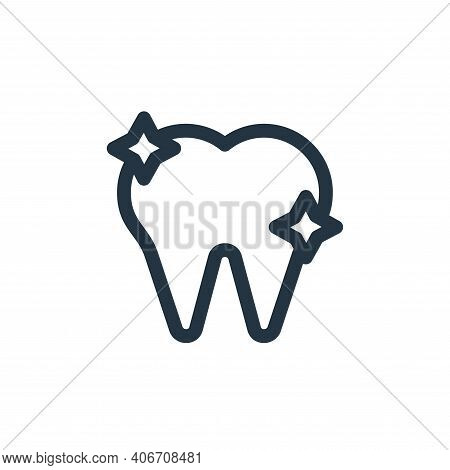 tooth icon isolated on white background from health collection. tooth icon thin line outline linear