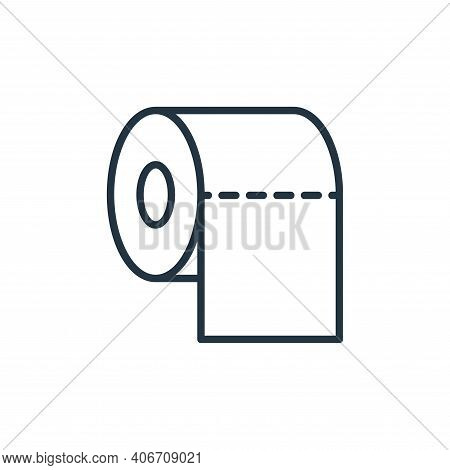 toilet paper icon isolated on white background from stop virus collection. toilet paper icon thin li