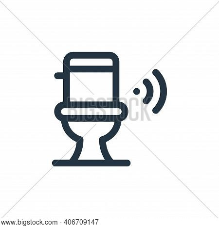 toilet icon isolated on white background from internet of things collection. toilet icon thin line o