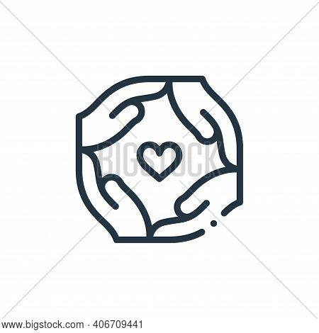 together icon isolated on white background from world love collection. together icon thin line outli