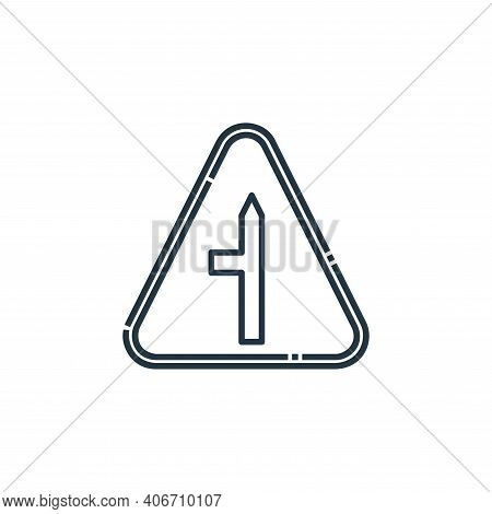 t junction icon isolated on white background from signaling collection. t junction icon thin line ou