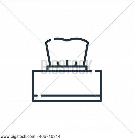 tissue box icon isolated on white background from allergies collection. tissue box icon thin line ou